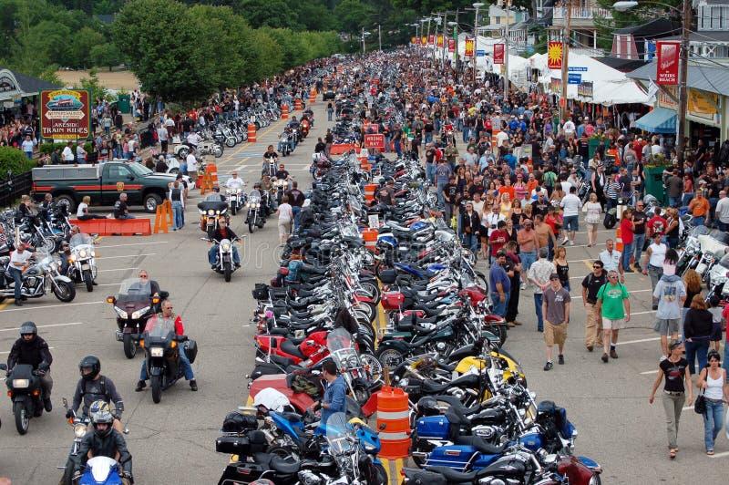 2009年拉哥尼亚摩托车星期 库存照片