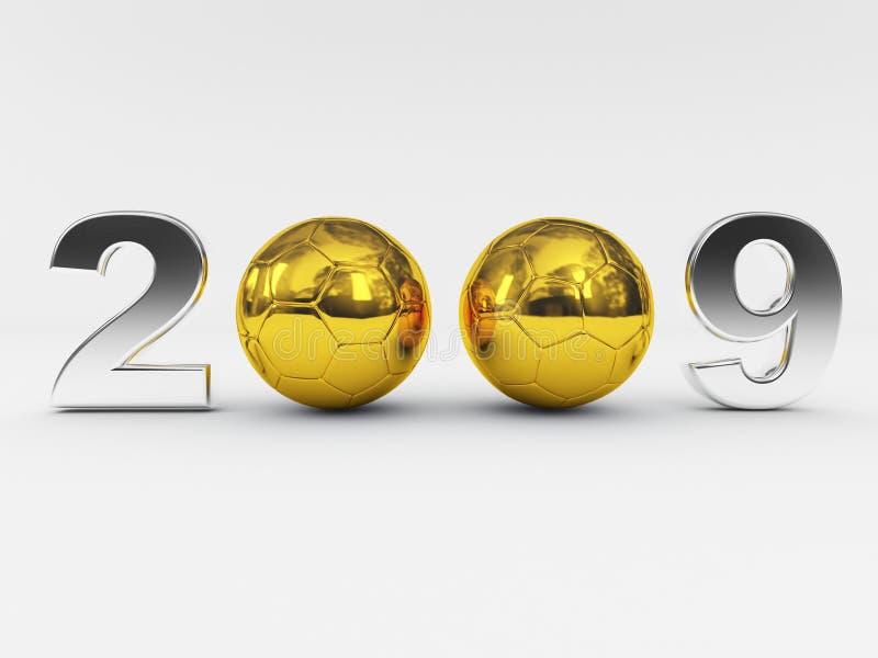 2009年球金黄新年度 向量例证