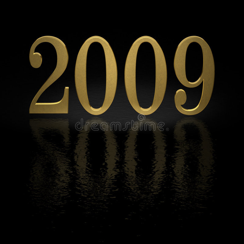 2009年金子 库存例证