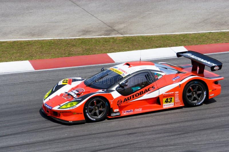 2009年aguri autobacs gt赛跑超级小组的日本 库存照片