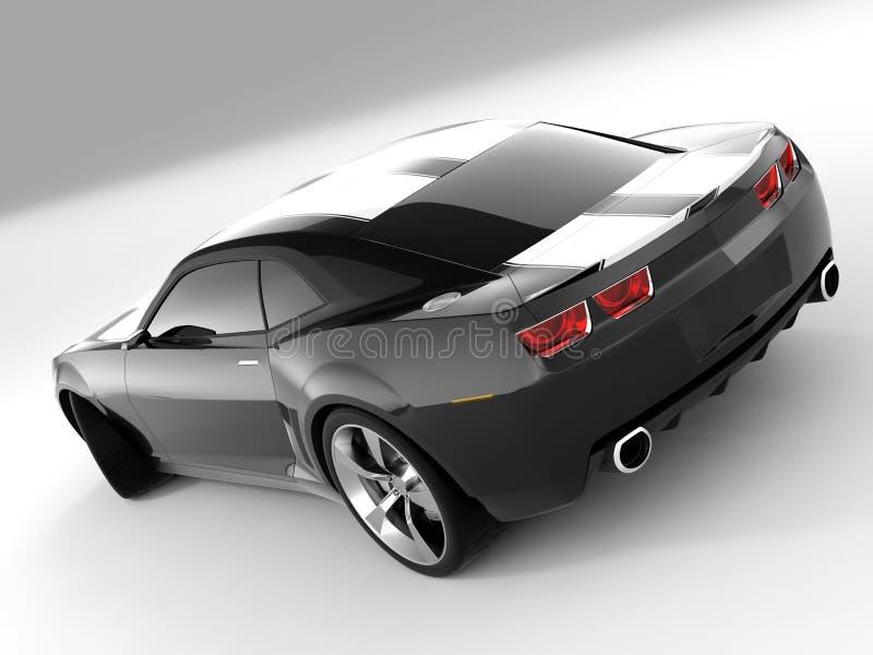 2009年camaro薛佛列汽车概念 皇族释放例证