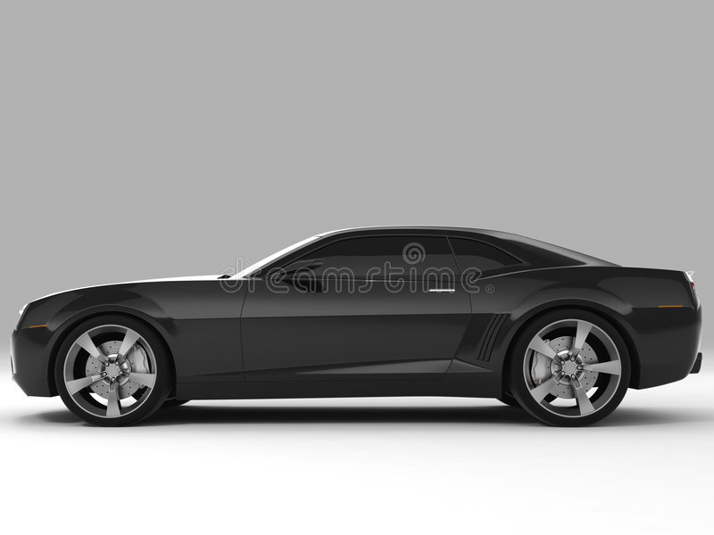 2009年camaro薛佛列汽车概念 向量例证