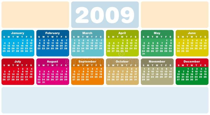 2009日历 库存例证