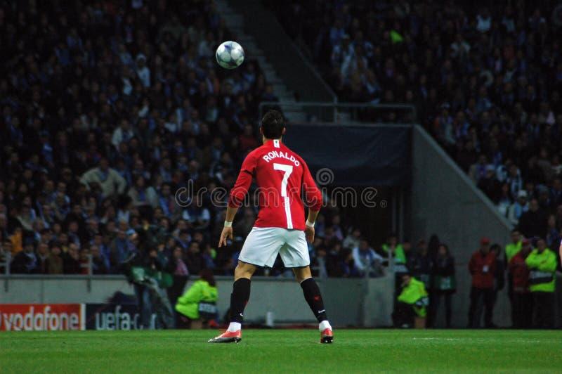 2009最佳的cristiano ・ fifa球员ronaldo世界 库存图片