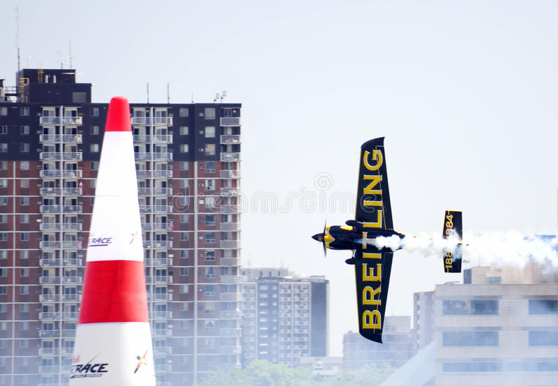2009航空公牛加拿大种族红色windsor 免版税库存照片