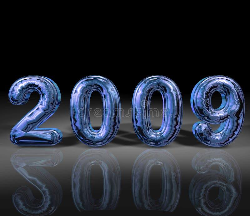 2009蓝色 皇族释放例证