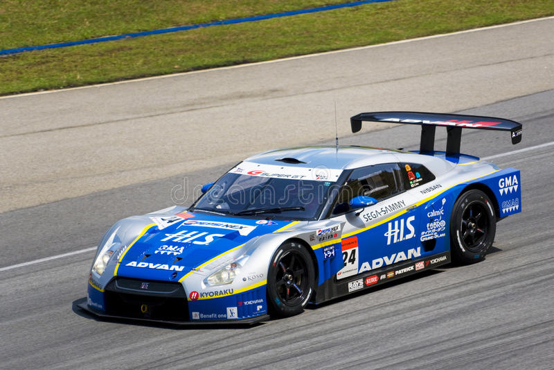2009赛跑超级小组的gt日本kondo 库存照片