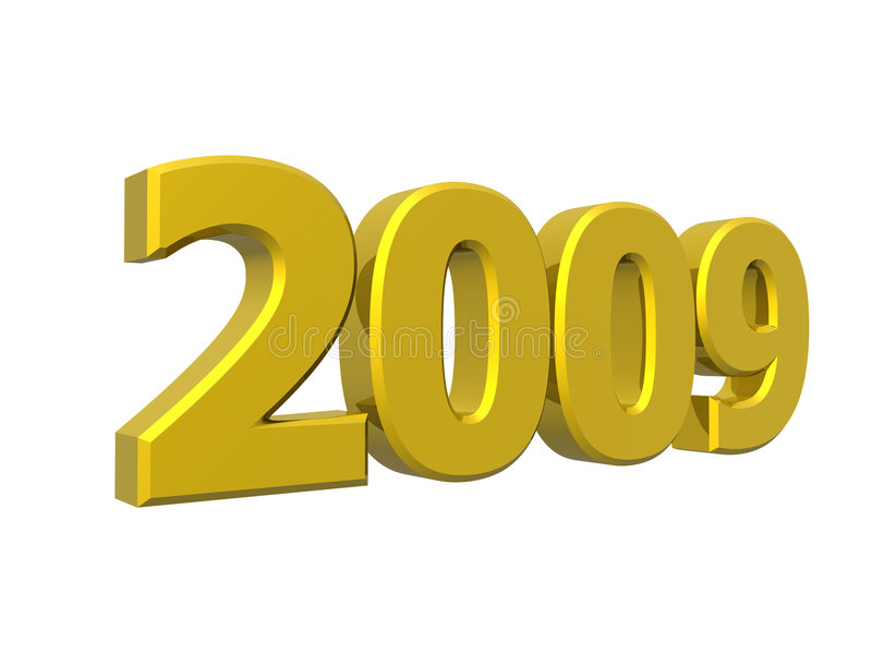 2009 år stock illustrationer