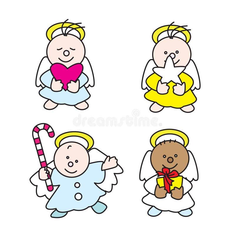 2009 άγγελοι χαριτωμένοι λίγ& Στοκ Εικόνα