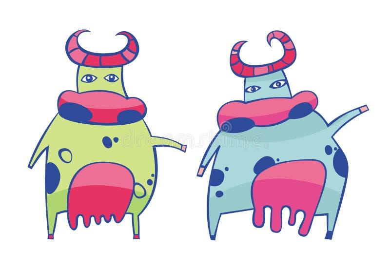 2009 αγελάδες κινούμενων σχ ελεύθερη απεικόνιση δικαιώματος