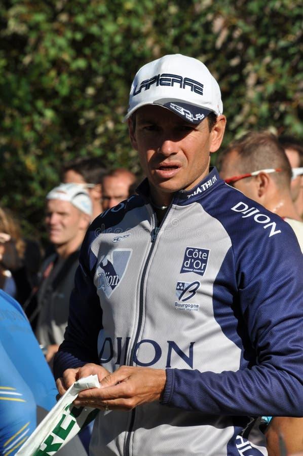 2009 Γαλλία Gilles reboul triathlete στοκ φωτογραφίες με δικαίωμα ελεύθερης χρήσης