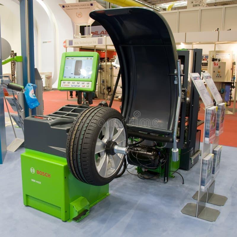 2009 балансируя колес выставки мотора машины geneva стоковое фото