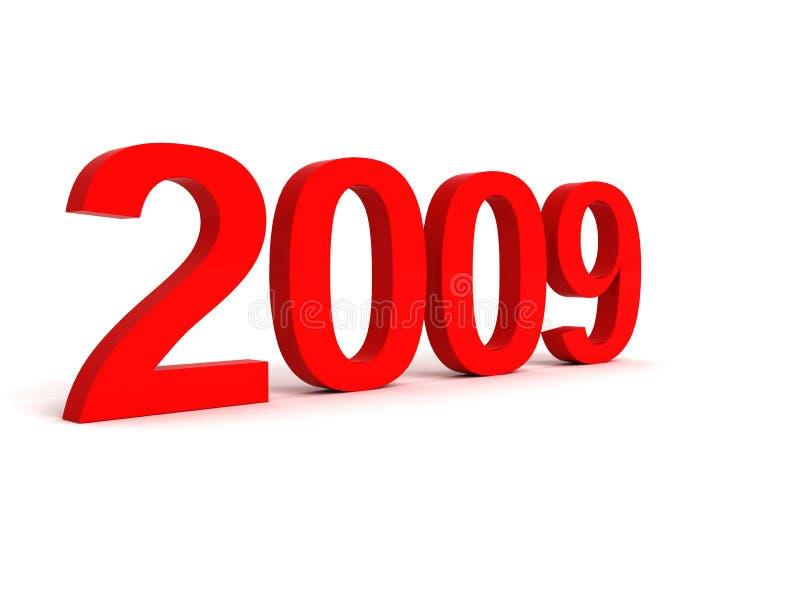 2009 взгляд стороны 3 размерного числа иллюстрация штока