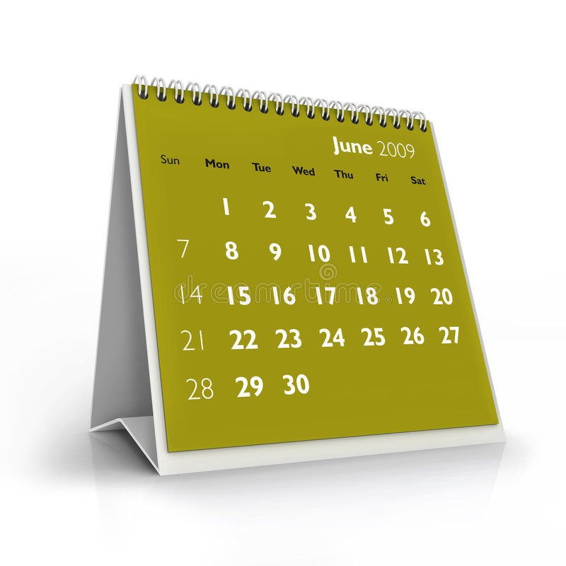 2009 календар июнь иллюстрация вектора