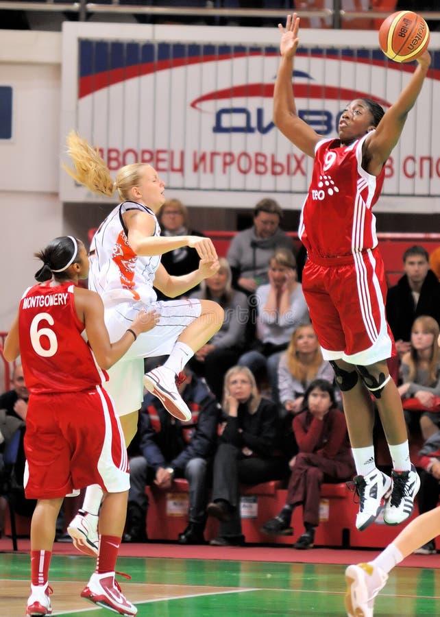 2009 2010 koszykówki euroleague teo ummc vs kobiety zdjęcie royalty free