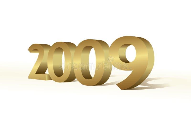 2009 3d illustration stock