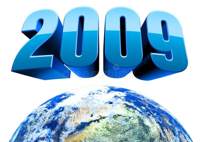 2009 3d ziemia odizolowywająca ilustracji