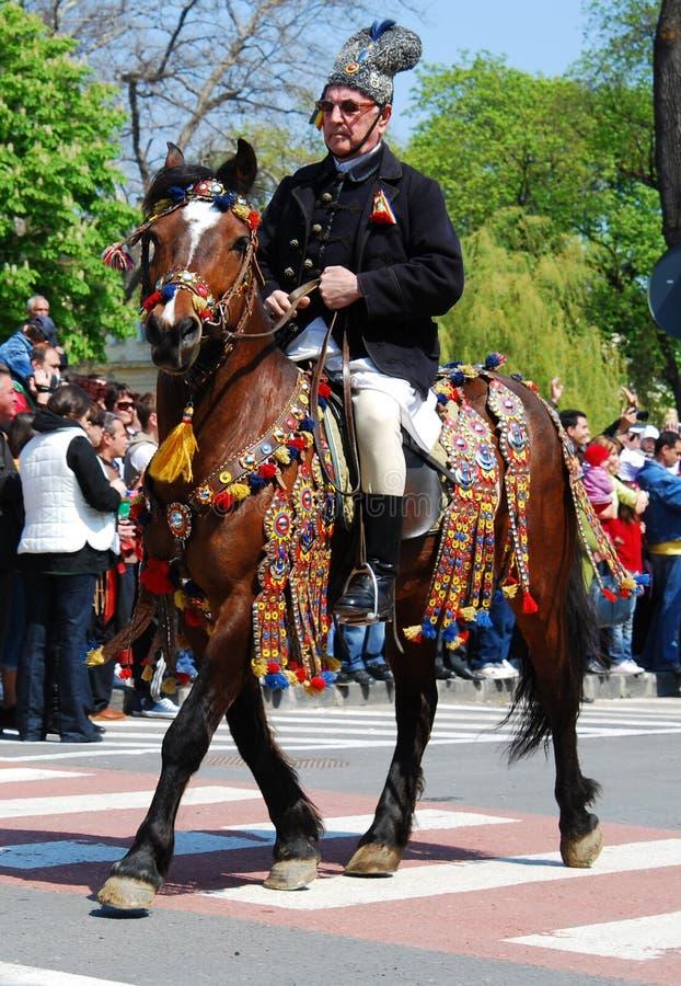 2009 4月26日brasov城市日juni游行 库存图片