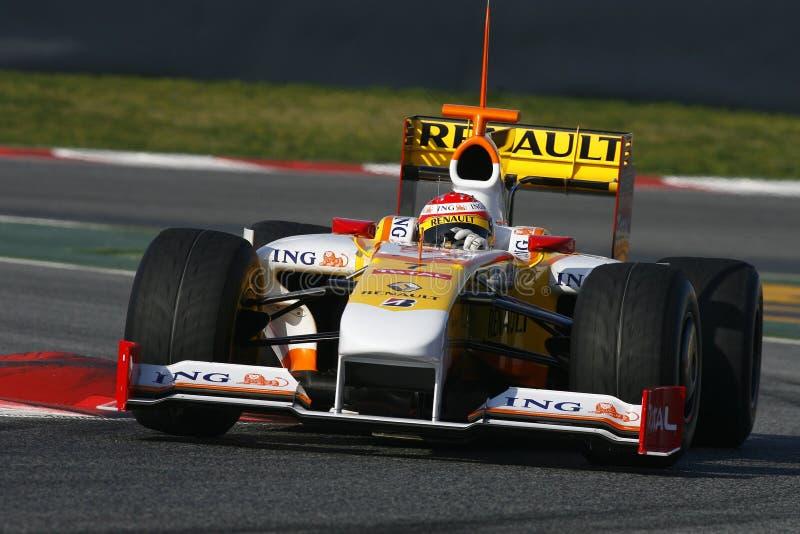2009 Alonso f1 Fernando Renault obrazy royalty free