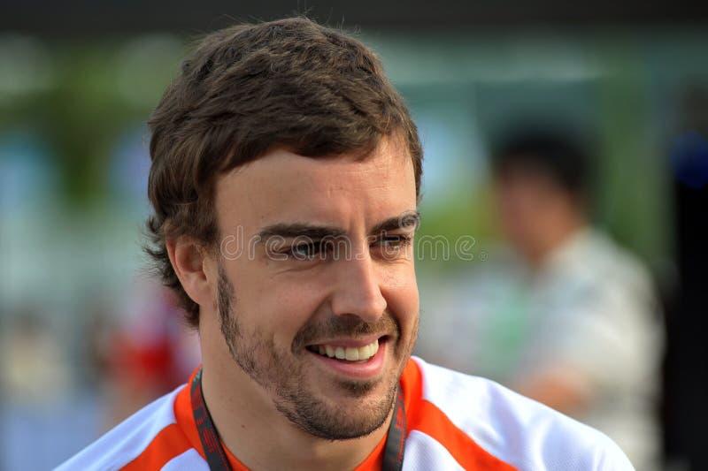 2009 Alonso f1 Fernando target9_0_ Renault drużyny obrazy stock
