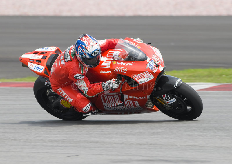 2009 americano Nicky Hayden di Ducati Marlboro fotografie stock libere da diritti