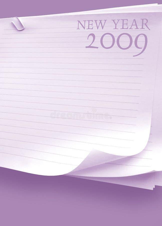 2009 anos ilustração stock