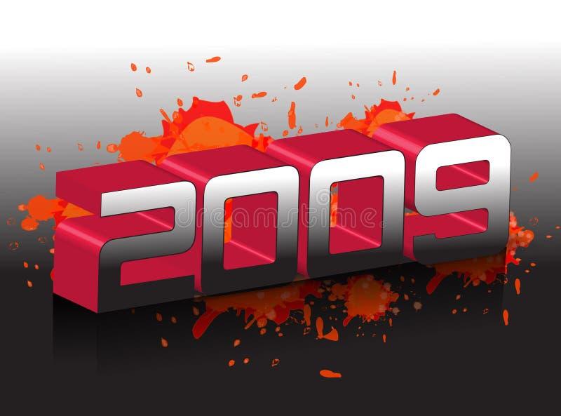 2009 anos novos ilustração do vetor