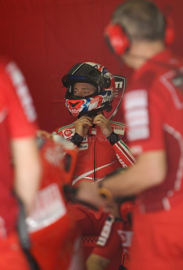 2009 Australier Casey Entkerner Ducati Marlboro Team stockbild
