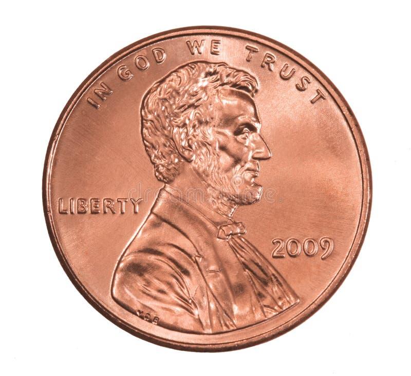 2009 błyszczący Lincoln cent obrazy stock