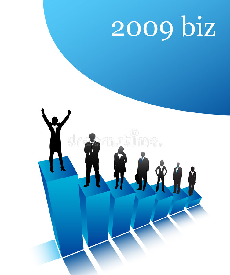 Download 2009 biz stock vector. Image of earnings, investment, businesswomen - 7535221