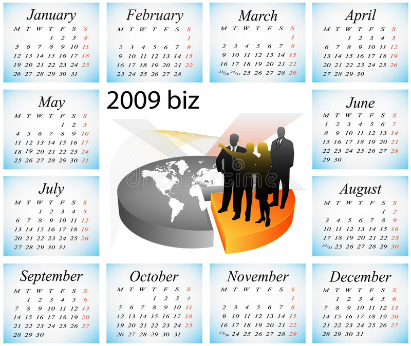 Download 2009 calendar stock vector. Image of market, information - 7311053