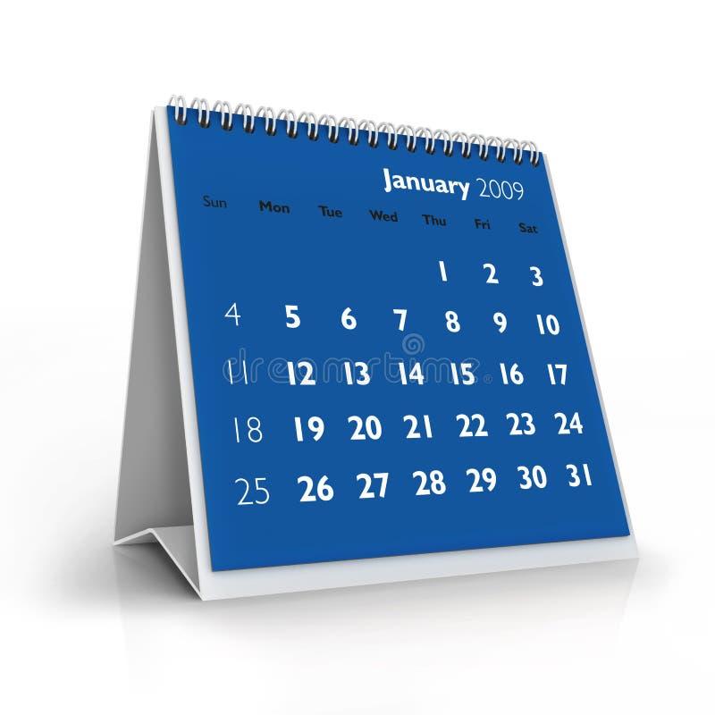 2009 calendrier janvier illustration libre de droits