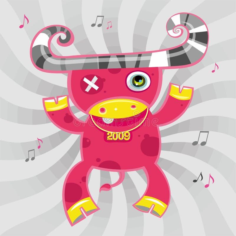 2009 cartoon ox. Cartoon bull new year symbol. To see more calendars, please visit my gallery