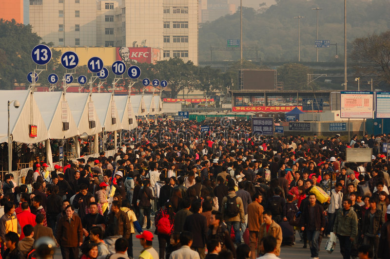 2009 chinese festival peak spring travel στοκ εικόνες