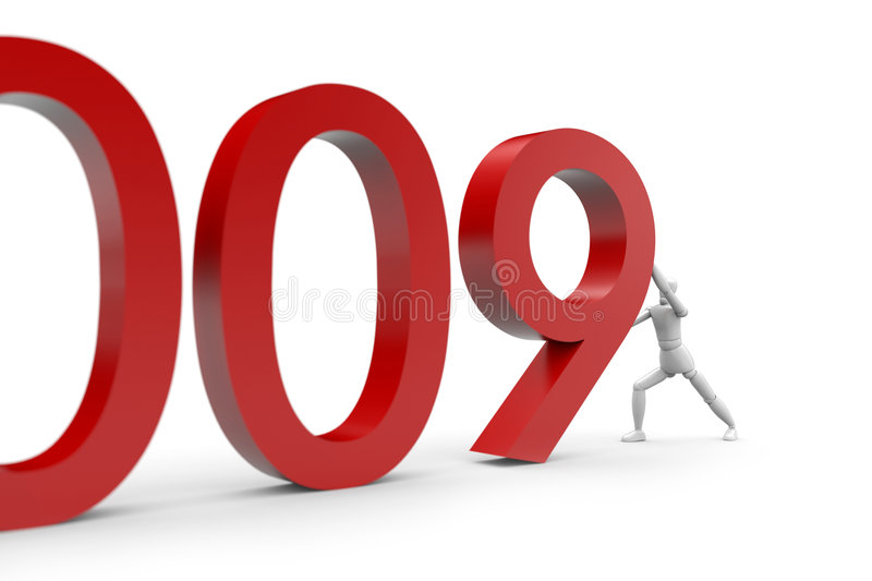 2009 Is Coming Stock Images