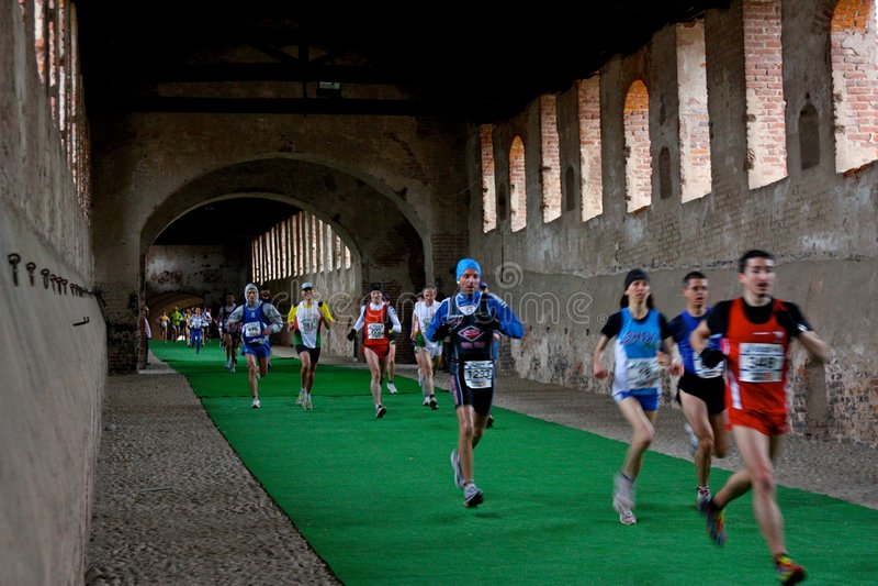 2009 d przyrodni maratonu oro scarpa vigevano fotografia royalty free