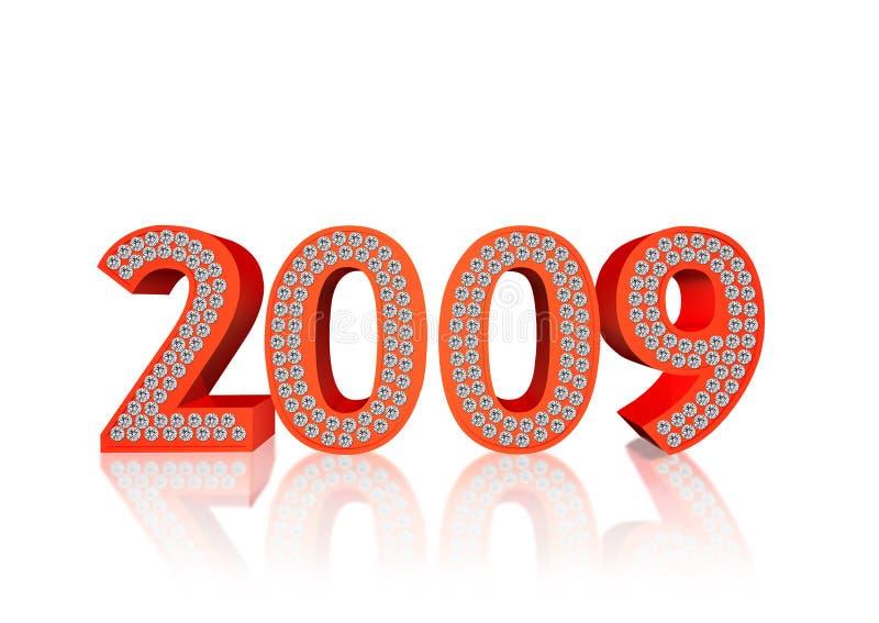 2009 diamentów royalty ilustracja
