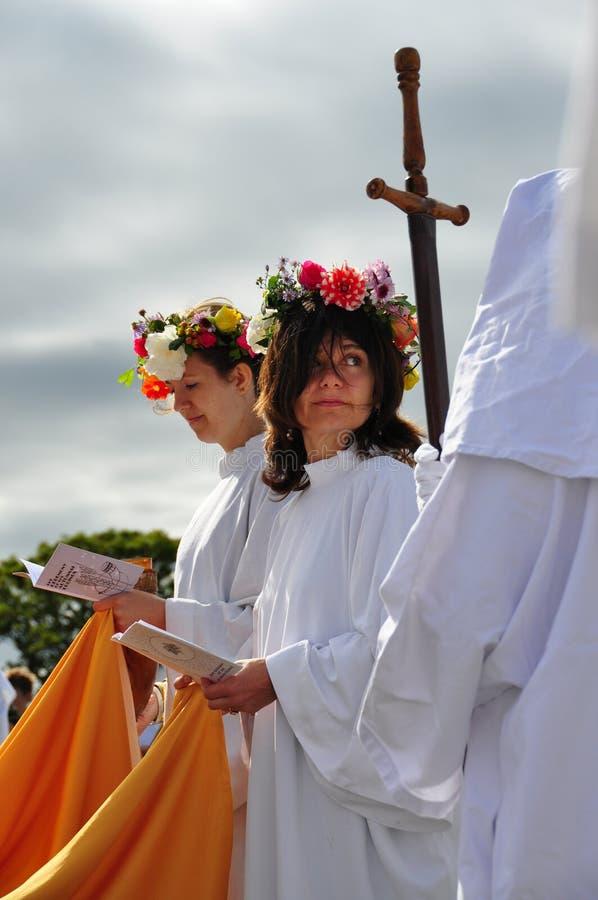 2009 druids φθινοπώρου equinox στοκ φωτογραφία
