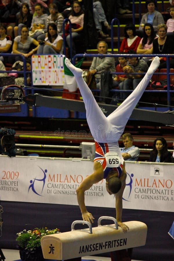 2009 Europeiska Gymnastiskt För Konstnärliga Mästerskap Redaktionell Bild