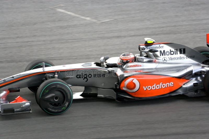 2009 f1 Heikki kovalainen mclaren l'emballage image libre de droits