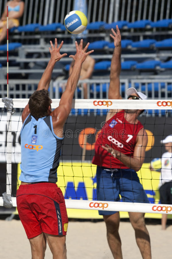 2009 FIVB CEV Lausanne Beach Volley Tournament royalty free stock image