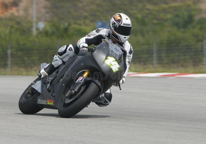 2009 french Randy de Puniet de voltaje residual Honda Motogp imágenes de archivo libres de regalías
