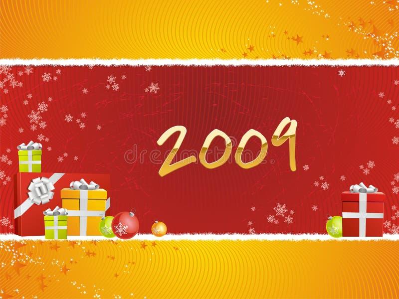 2009 gåvor royaltyfri illustrationer