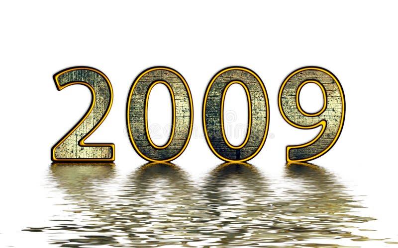 Download 2009 golden reflexion stock illustration. Image of wealth - 7301244