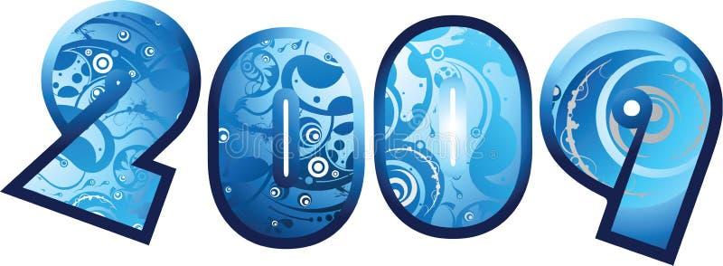 Download 2009 graphic design fonts stock illustration. Image of seasonal - 6287758