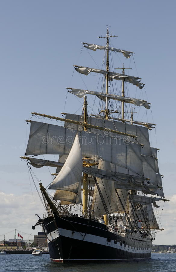 2009 Halifax rasy statek wysoki obrazy royalty free