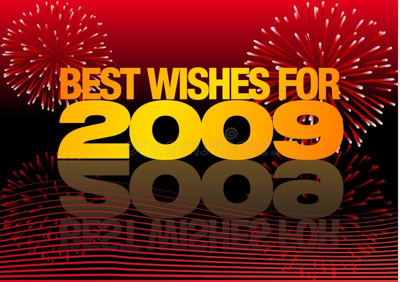 2009 heureux illustration stock