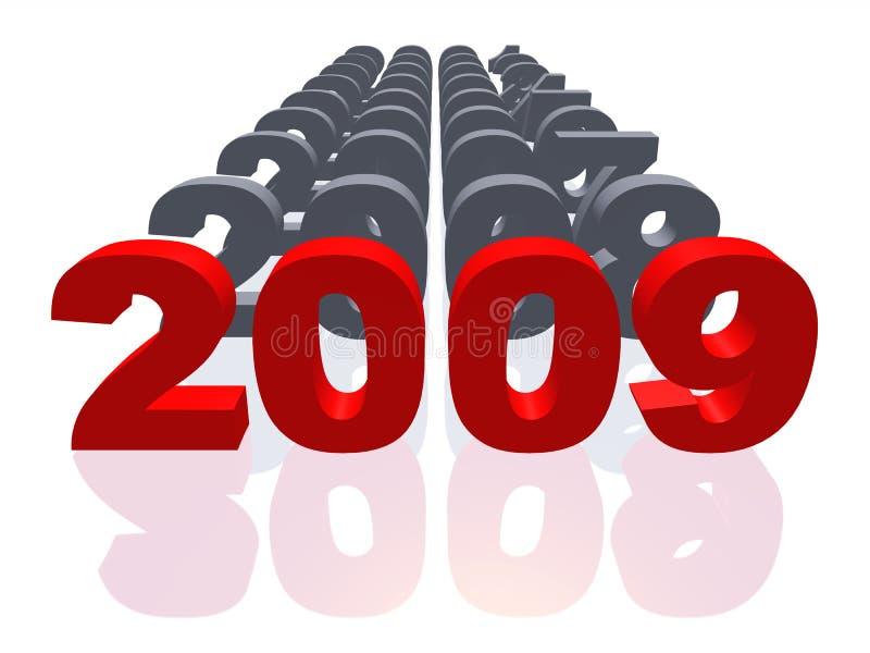 2009 isolados ilustração do vetor