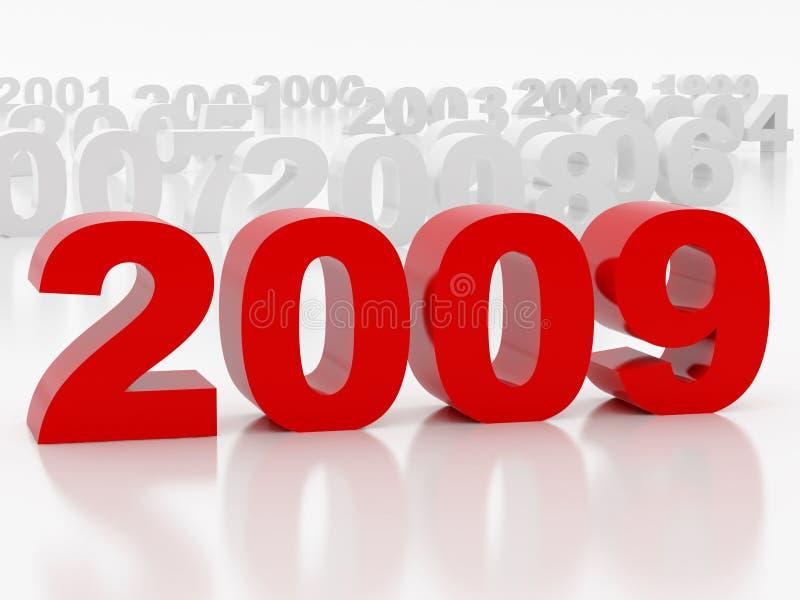 2009 Jahr lizenzfreie abbildung