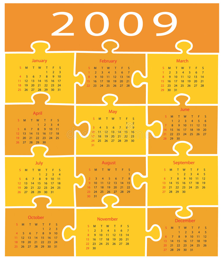 2009 kalendarz ilustracji